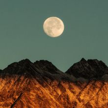 "24"" x 36"" Moon Over Mountains Print"