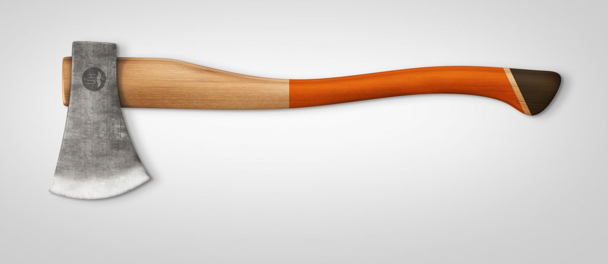 Orange/Brown handle finish