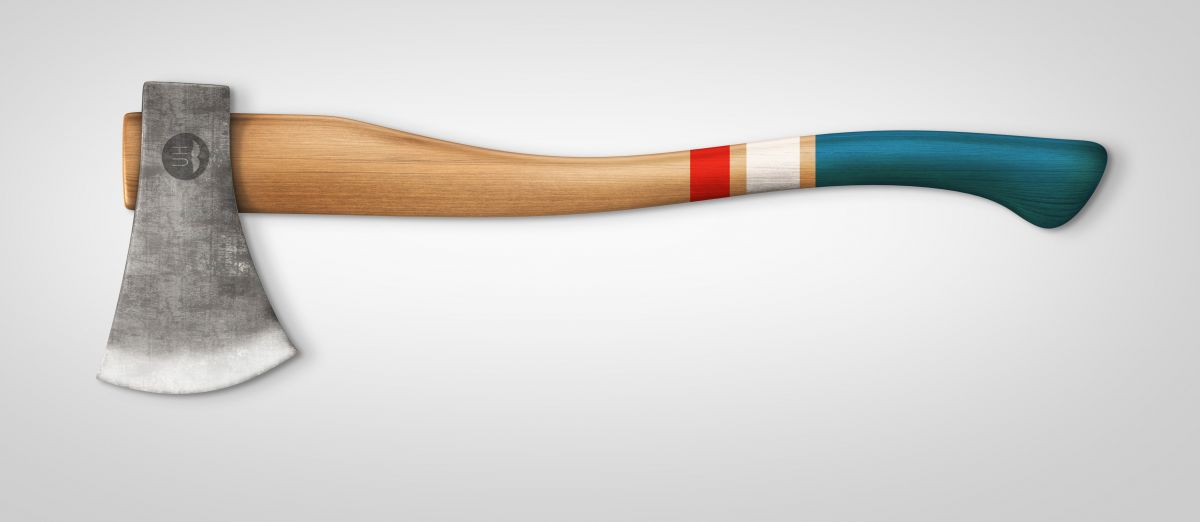 Red/White/Blue handle finish