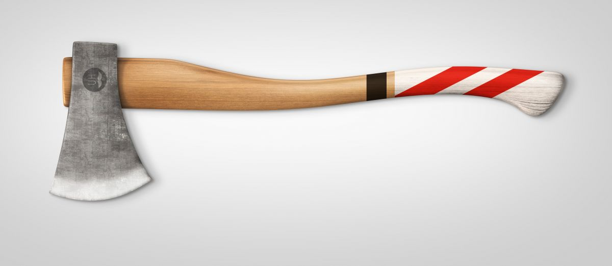 Black/White/Red handle finish