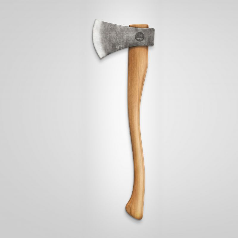 Natural finish axe